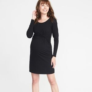 Twist Front Maternity Dress
